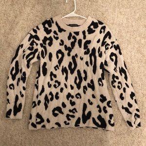 Something Navy Cheetah Sweater